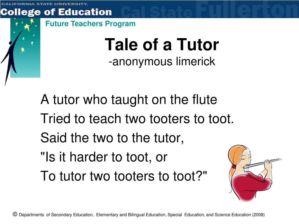 Tale of a Tutor