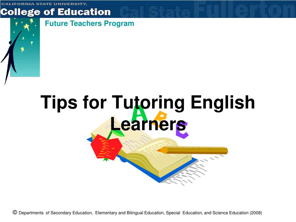 Tips for Tutoring English Learners