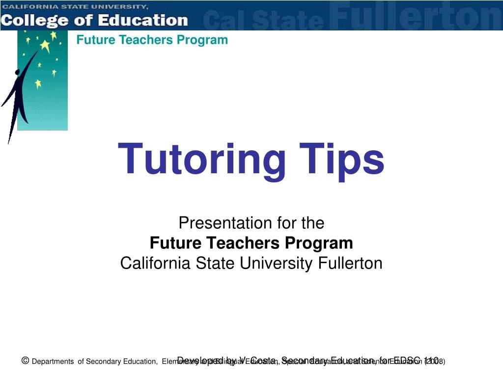 Tutoring Tips