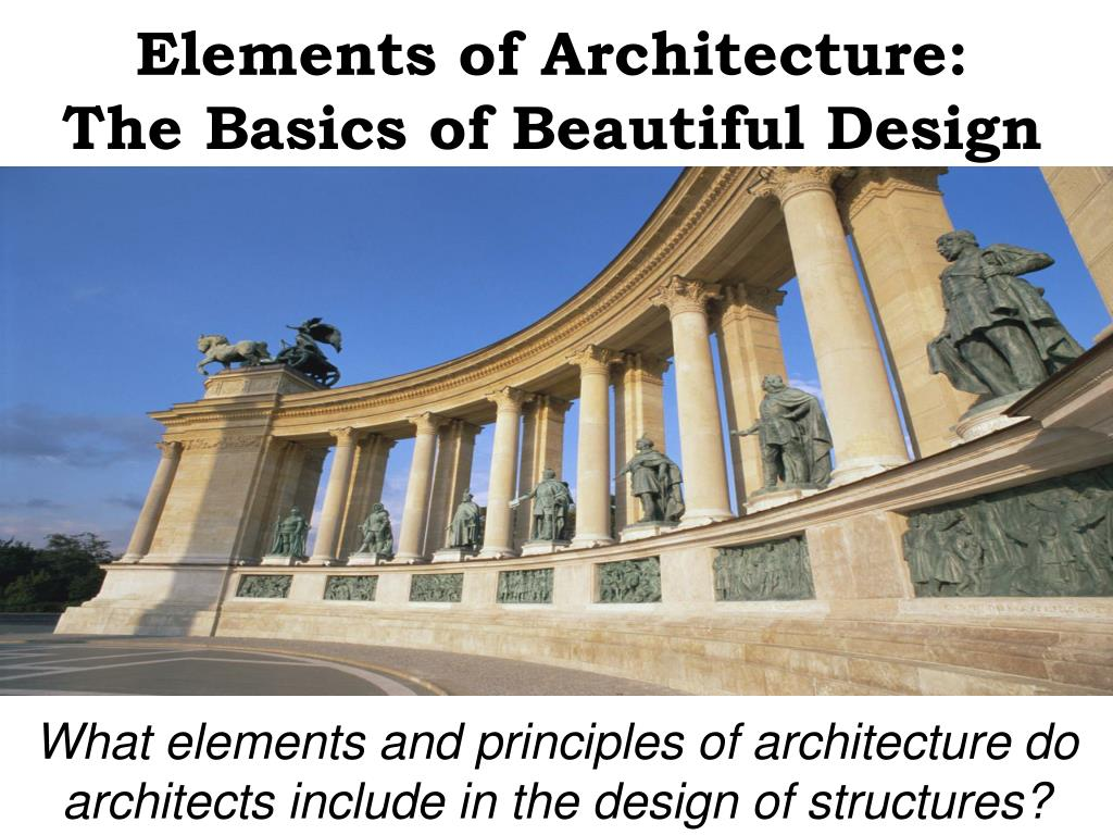 Elements of Architecture: