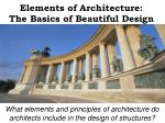 elements of architecture the basics of beautiful design