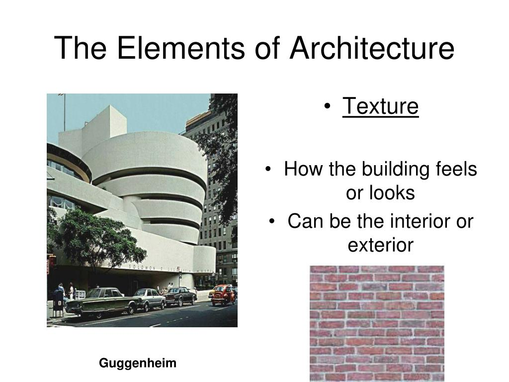 The Elements of Architecture
