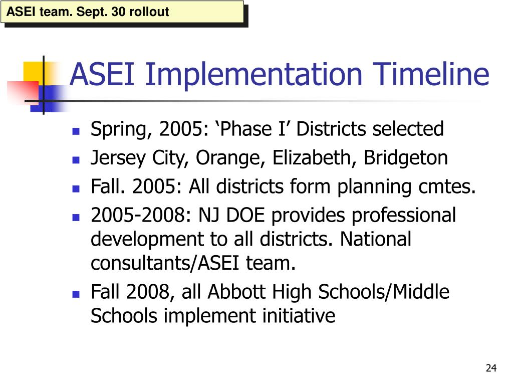 ASEI team. Sept. 30 rollout