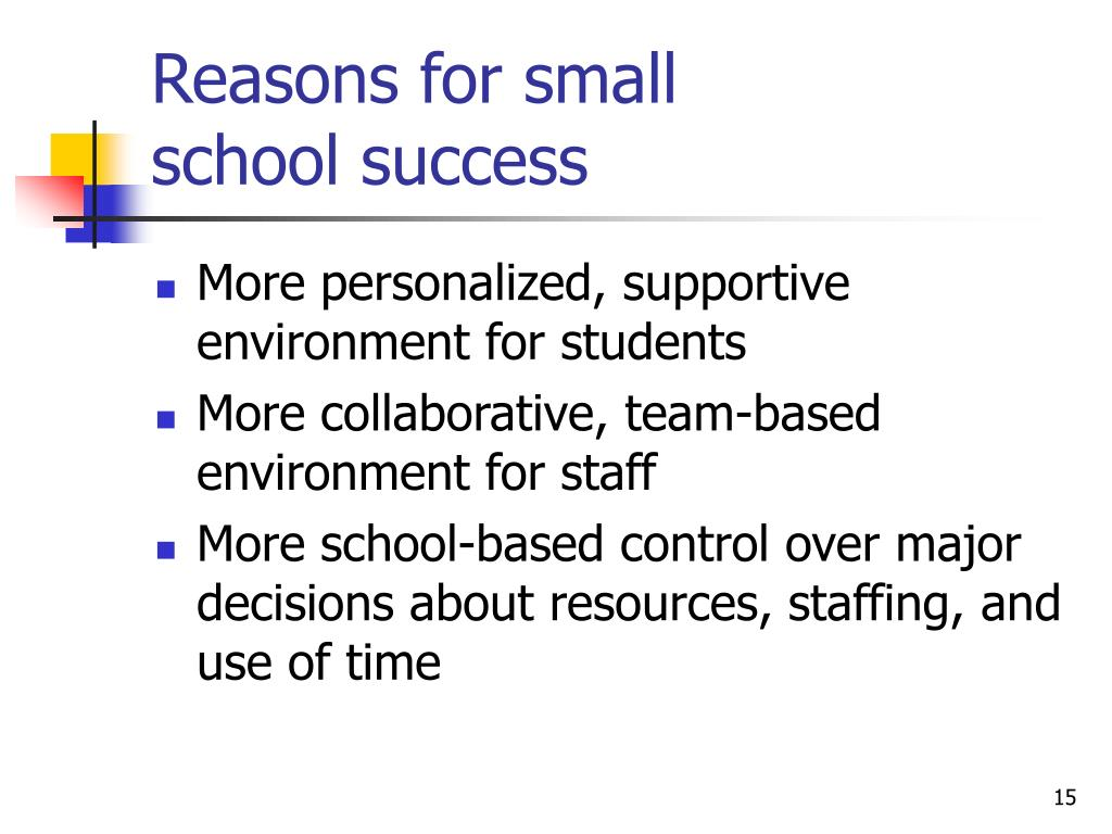 Reasons for small