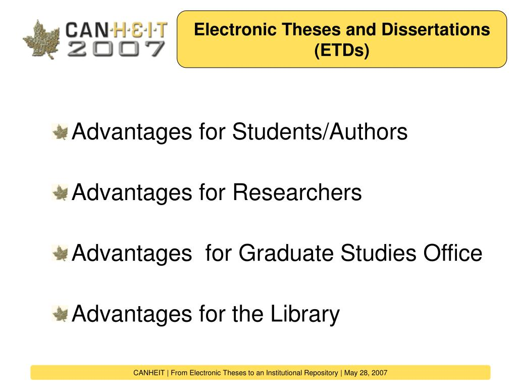 Electronic Theses and Dissertations (ETDs)