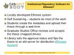 institutional repository software for etheses
