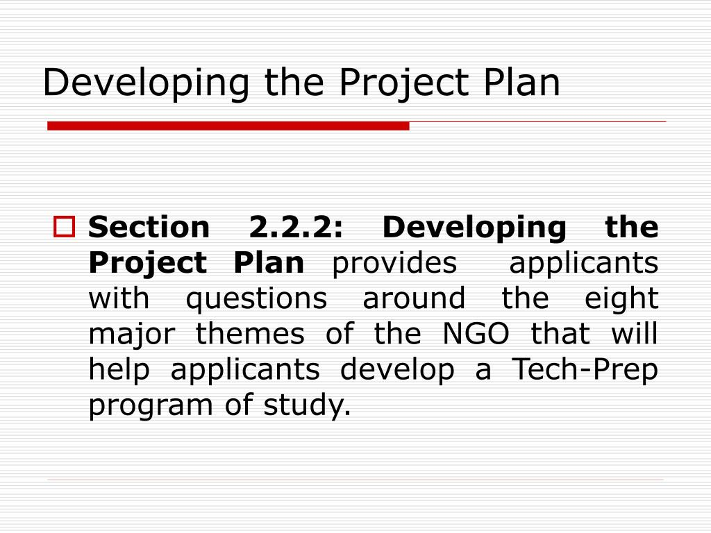 Developing the Project Plan