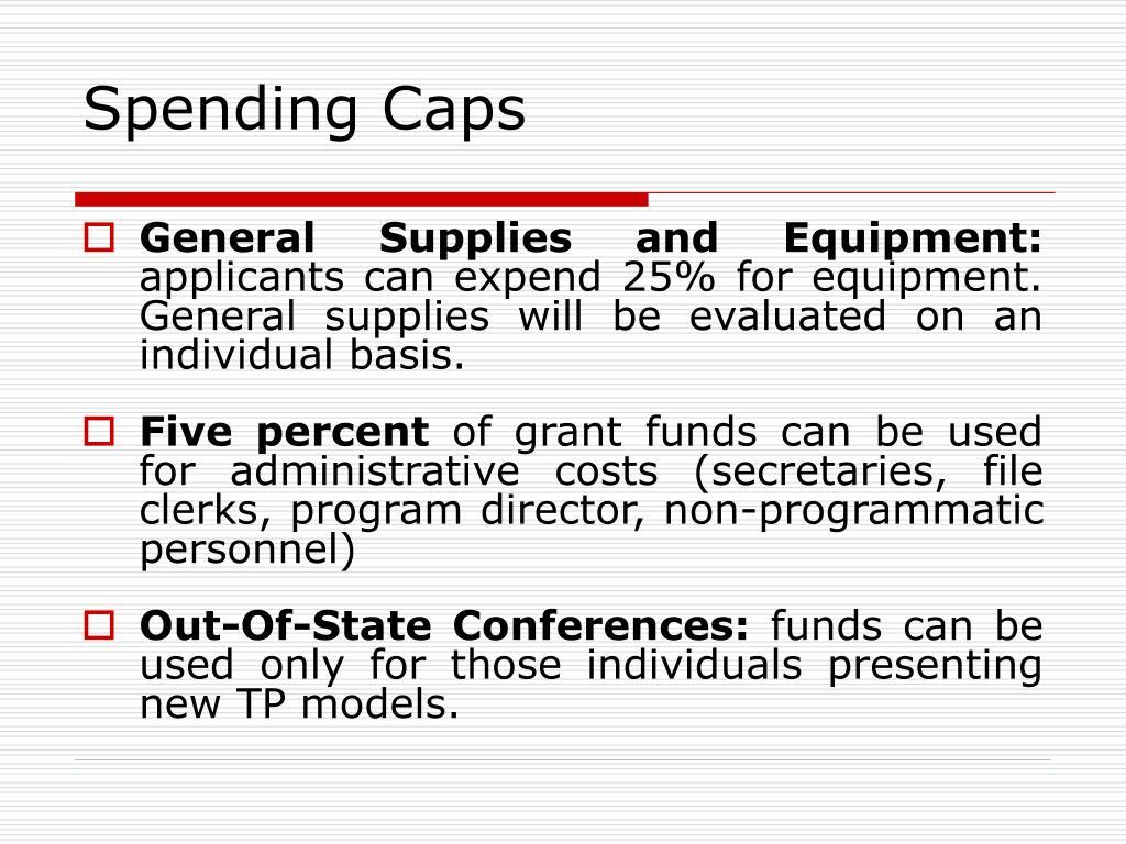 Spending Caps