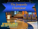 the jeopardy champion