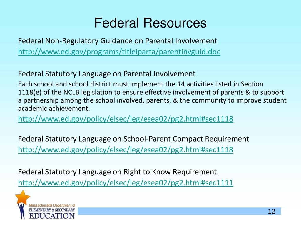 Federal Resources