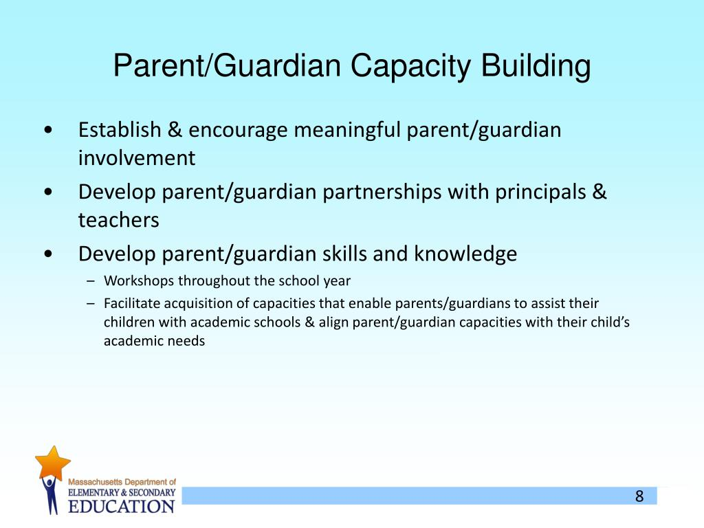 Parent/Guardian Capacity Building