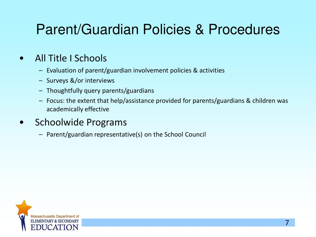 Parent/Guardian Policies & Procedures