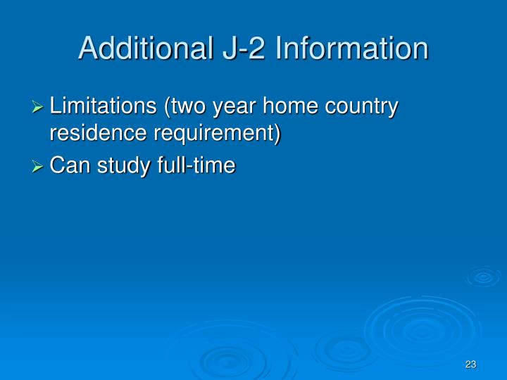 Additional J-2 Information