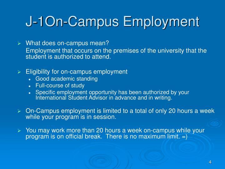 J-1On-Campus Employment