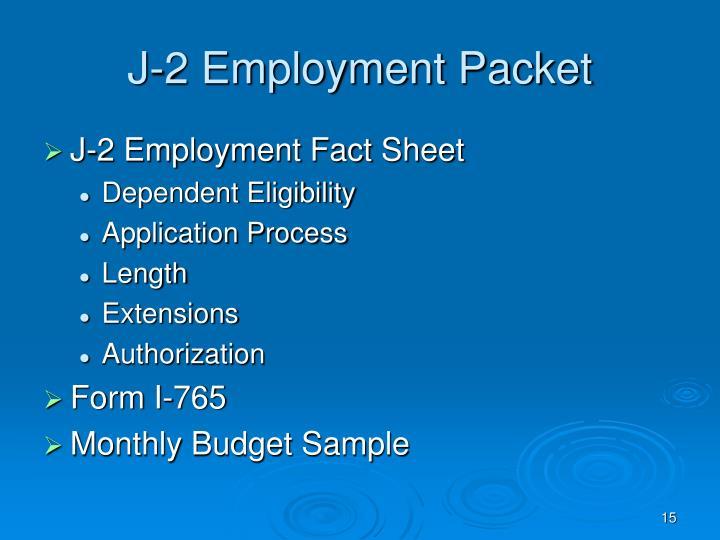 J-2 Employment Packet