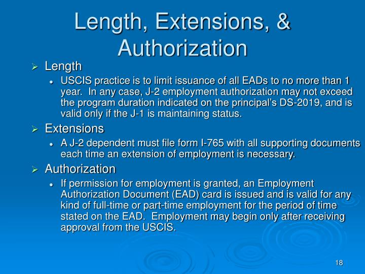 Length, Extensions, & Authorization