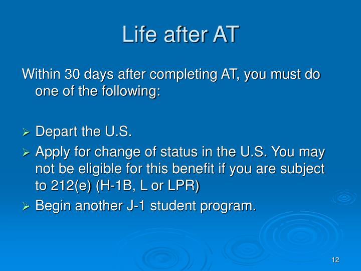Life after AT