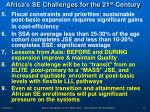 africa s se challenges for the 21 st century10