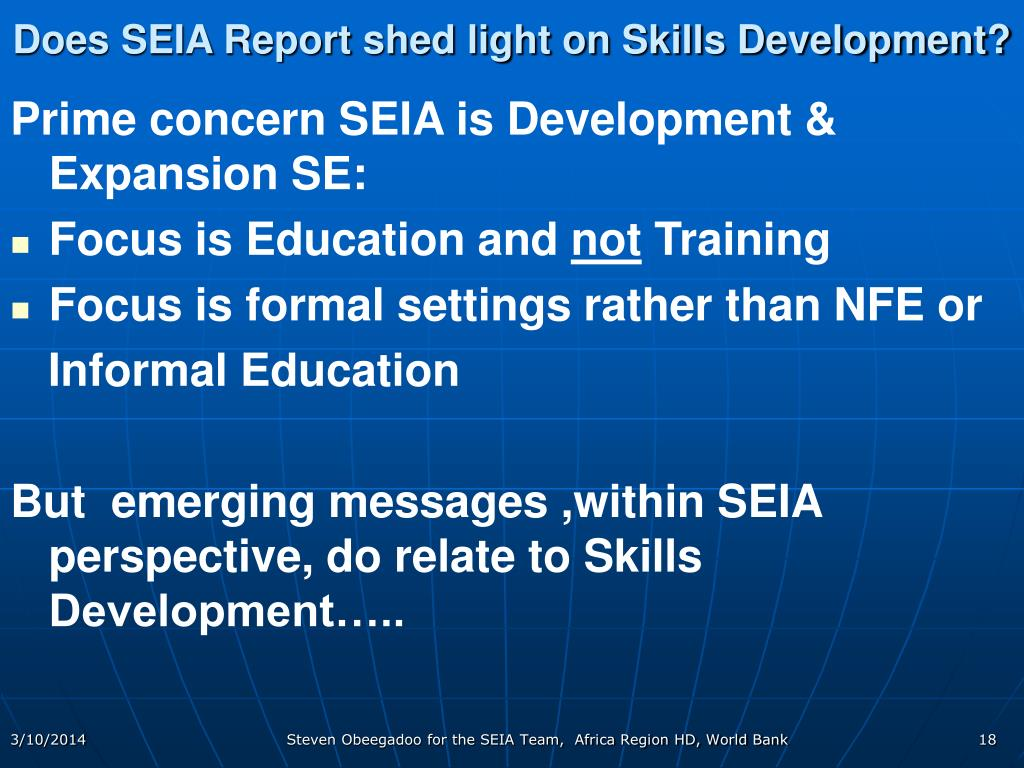 Does SEIA Report shed light on Skills Development?