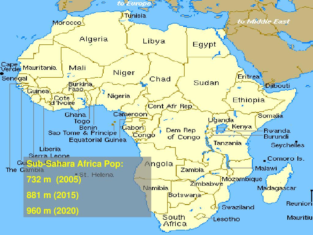 Sub-Sahara Africa Pop:
