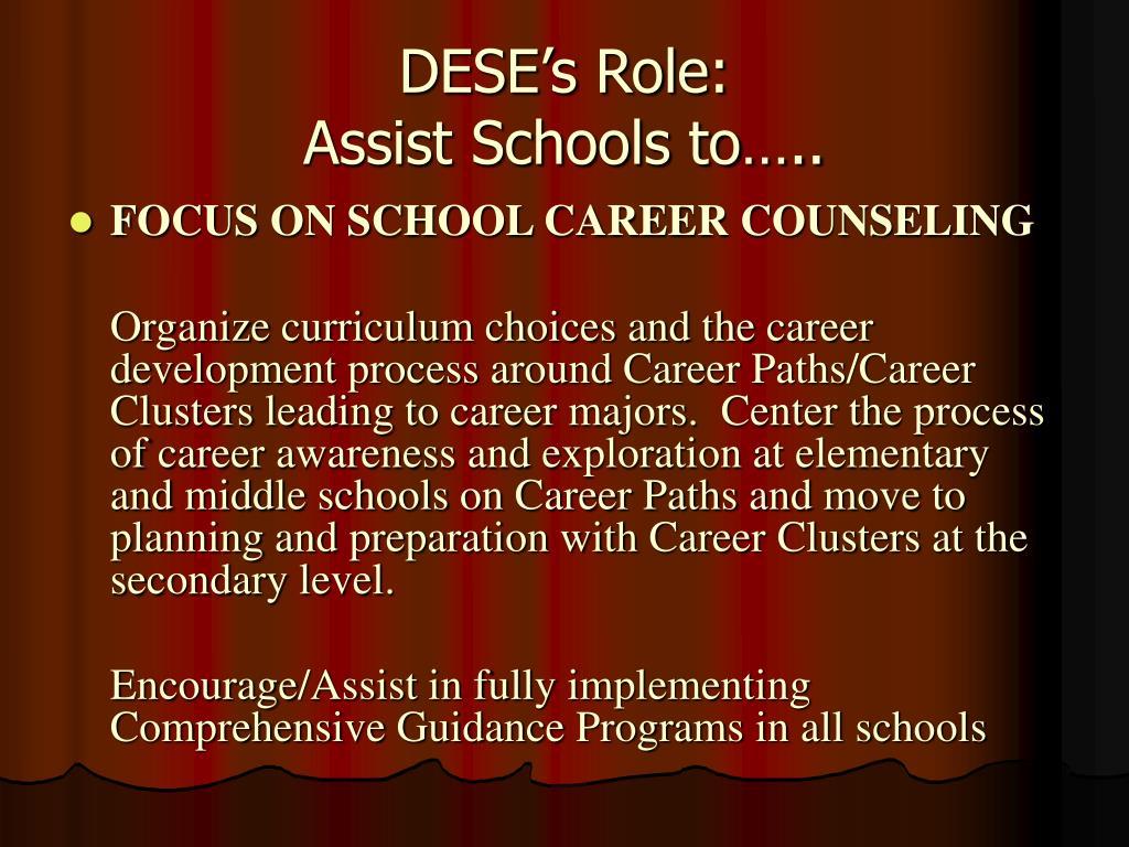 DESE's Role: