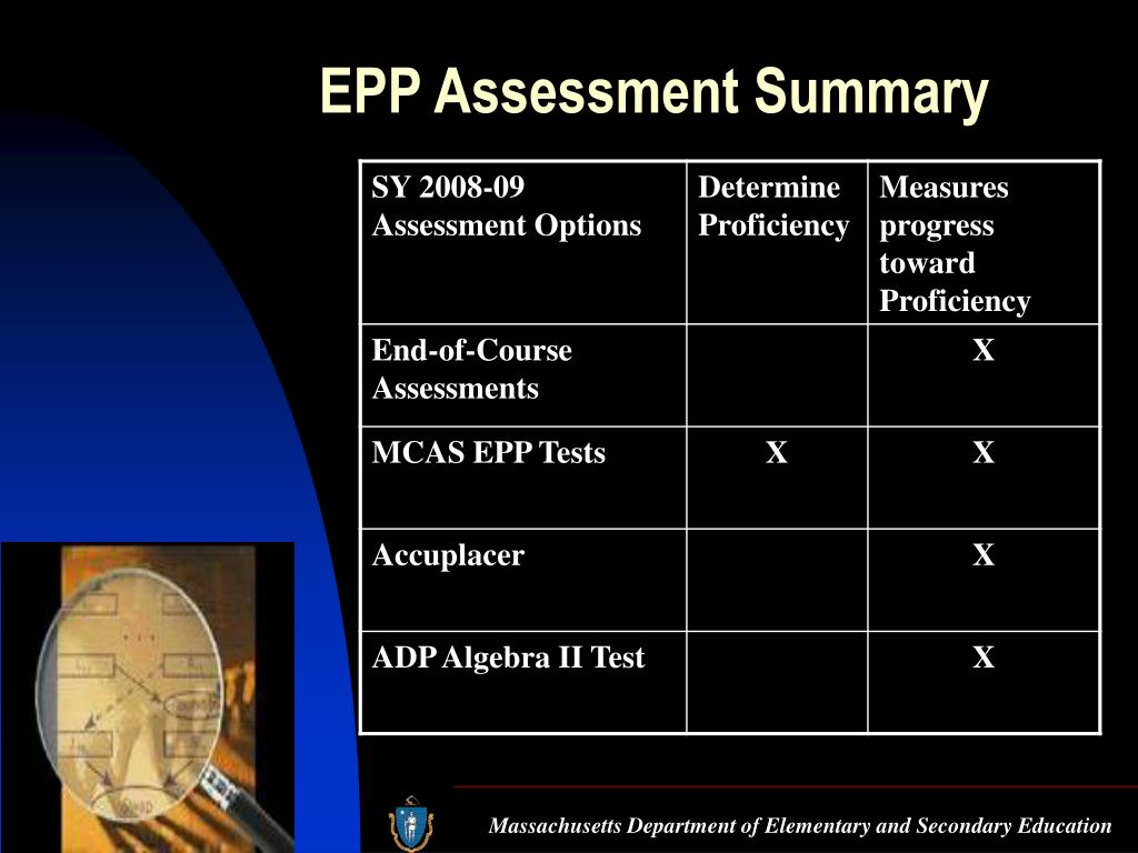 EPP Assessment Summary