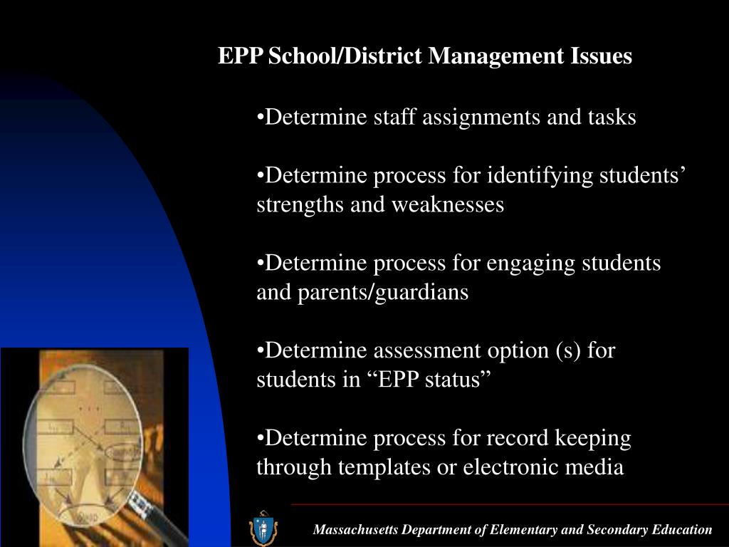 EPP School/District Management Issues