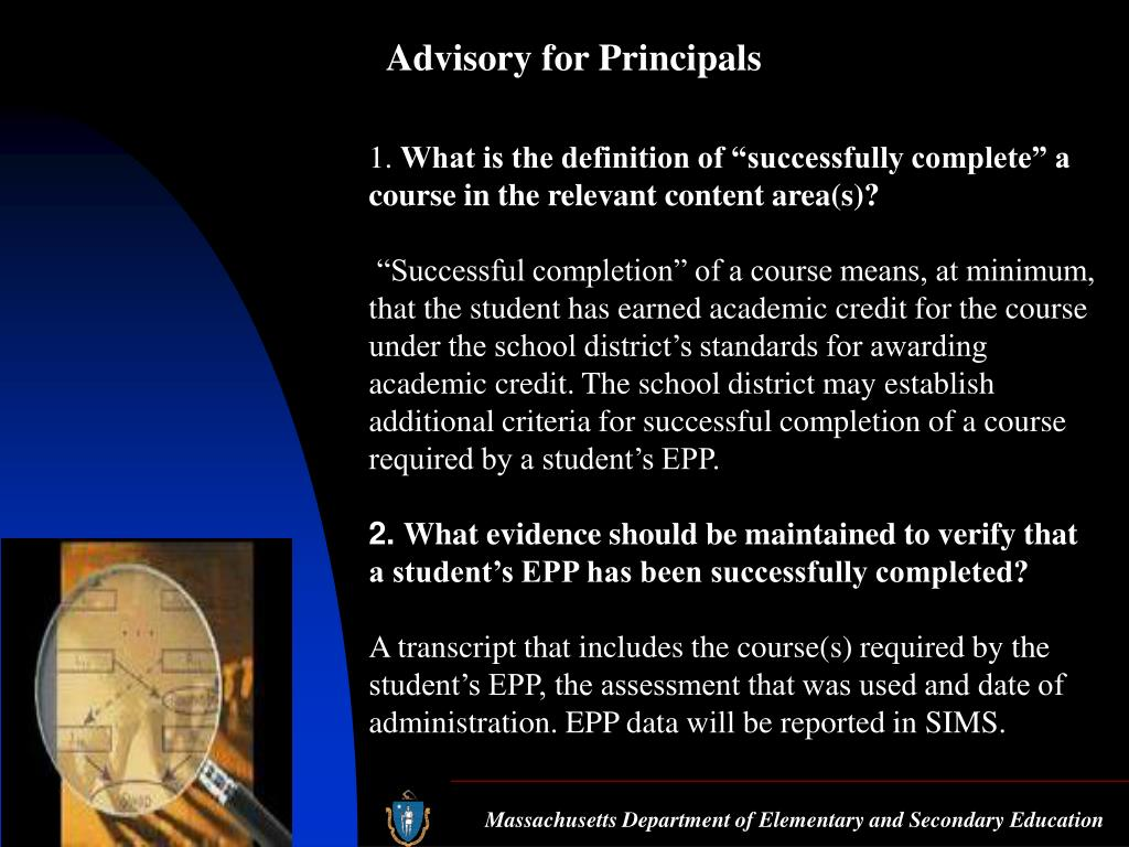 Advisory for Principals
