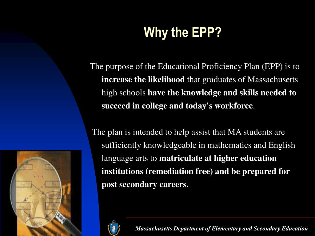 Why the EPP?