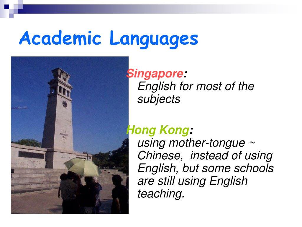 Academic Languages