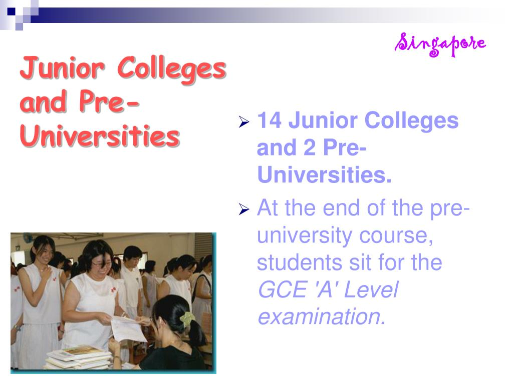 Junior Colleges and Pre-Universities