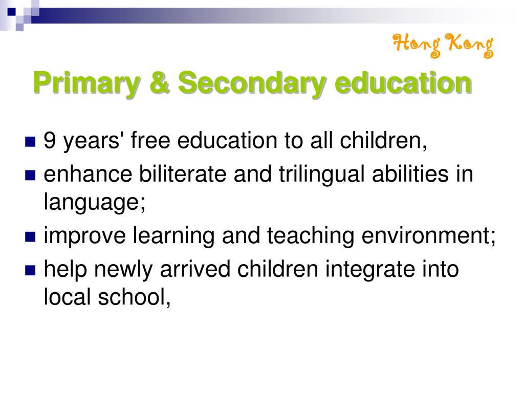 Primary & Secondary education