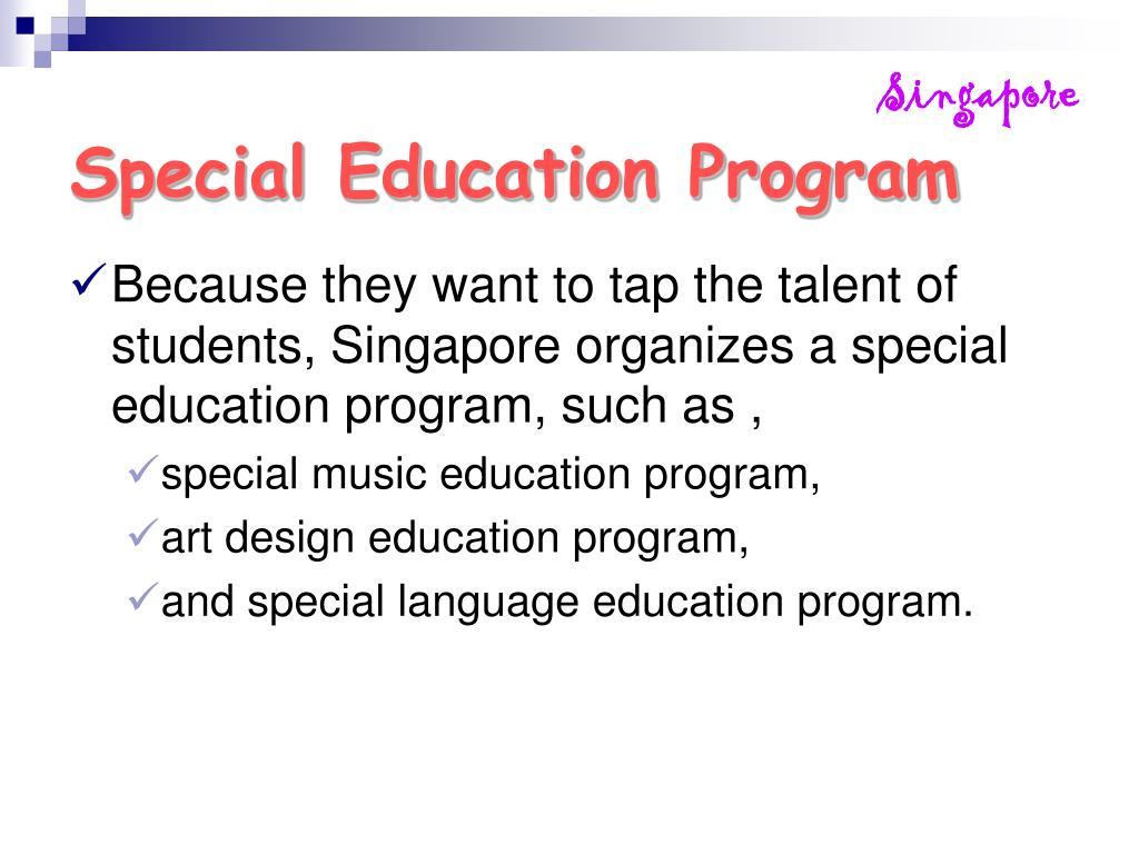 Special Education Program