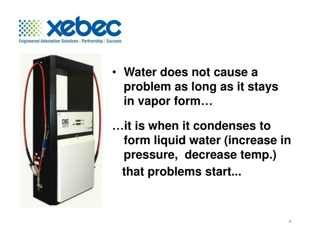Water does not cause a problem as long as it stays in vapor form…