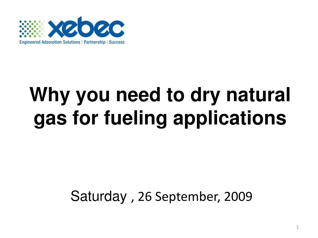 Why you need to dry natural gas for fueling applications