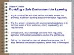 chapter 4 safety providing a safe environment for learning30