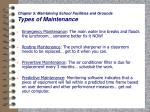 chapter 5 maintaining school facilities and grounds types of maintenance