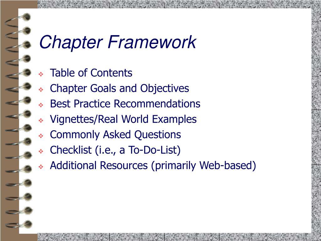 Chapter Framework