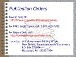 publication orders