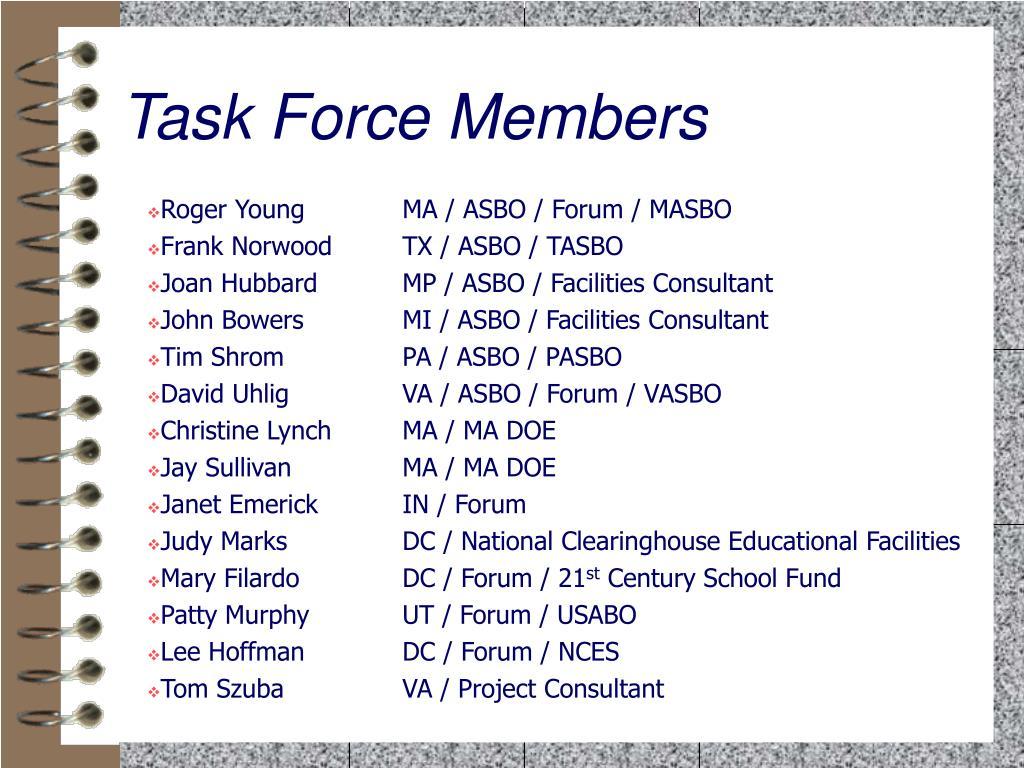 Task Force Members