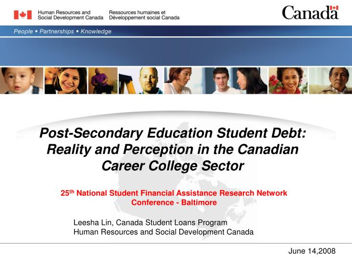 Post secondary education student debt reality and perception in the canadian career college sector