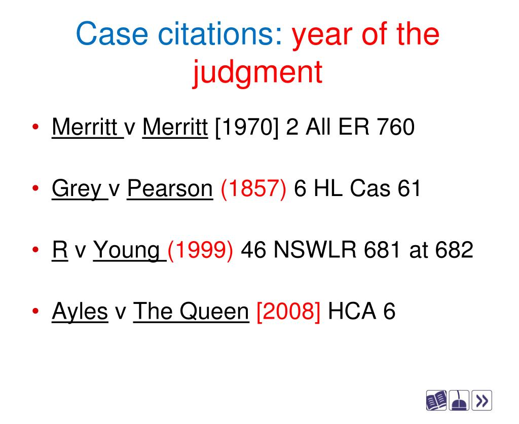 Case citations:
