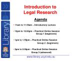introduction to legal research