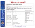 more classes