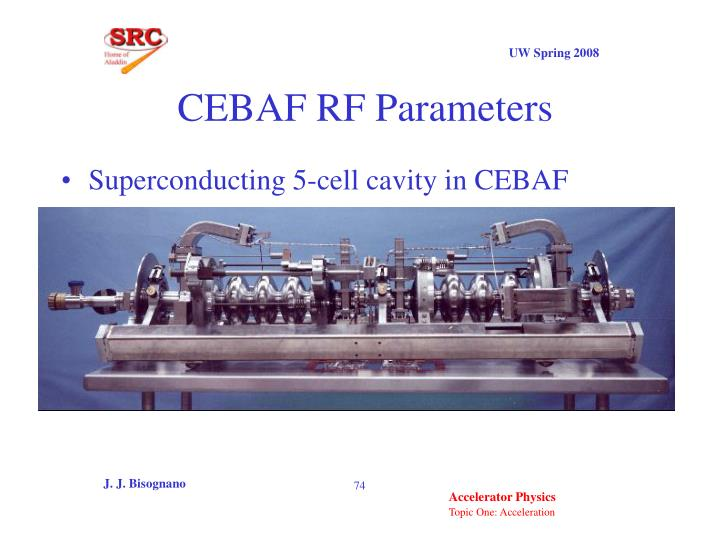 CEBAF RF Parameters