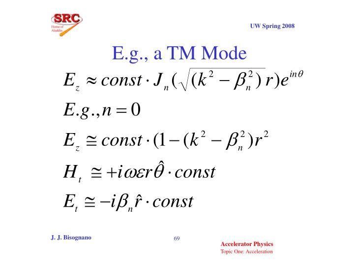 E.g., a TM Mode