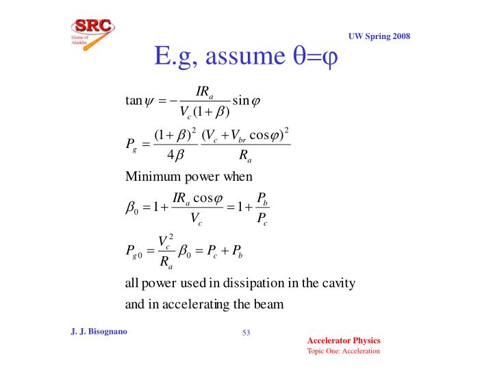 E.g, assume