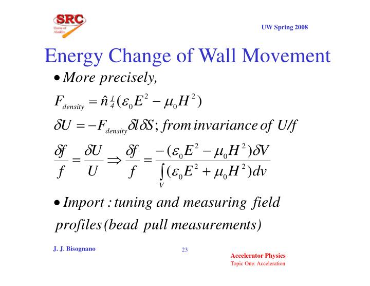 Energy Change of Wall Movement