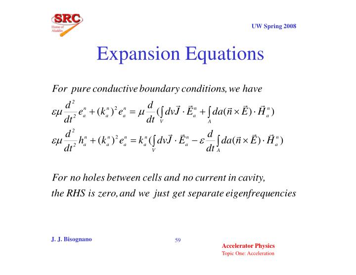 Expansion Equations
