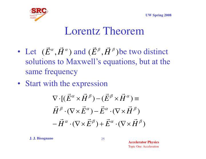 Lorentz Theorem